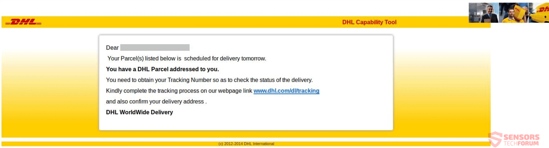 dhl phishing example