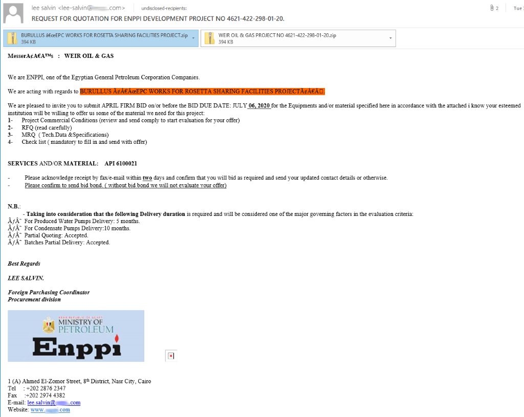phishing example oil and gas bitdefender